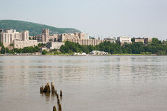 West Point. A view of West Point Military Academy and the Hudson River Stock Photo