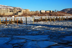 West Point vintersikt Royaltyfri Bild