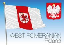 West Pomerania regional flag, Poland Stock Images