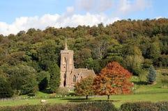 West Quantoxhead church. Village church in West Quantoxhead in fall [autmn Stock Image
