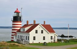 West Quoddy Head Light. House in Lubec, Maine royalty free stock photos