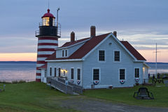 West Quoddy Head Light and Museum Stock Photography