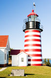 West Quoddy Head Lighthouse. Maine, USA Stock Photography