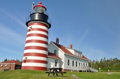 West Quoddy Head Lighthouse, Maine Royalty Free Stock Image