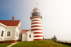 West Quoddy lighthouse Stock Images