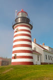 West Quoddy lighthouse Royalty Free Stock Photos