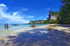West Railay bay. In the Andaman Sea, province of Krabi, Thailand stock image