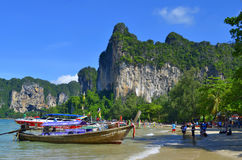 West Railay beach. In the Andaman Sea, province of Krabi, Thailand stock photos