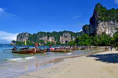 West Railay beach. In the Andaman Sea, province of Krabi, Thailand stock image