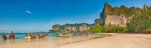 West Railay panorama Royalty Free Stock Photo