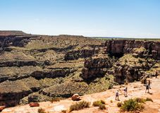 West-Rim Eagle Point Panorama Grand Canyon s - Arizona, AZ Stockbild