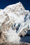West rock face of Nuptse peak Stock Photos