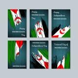 West-Sahara Patriotic Cards für Nationaltag Lizenzfreie Stockfotos