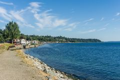 West Seattle Coastline. A view of the West Seattle coastline royalty free stock image