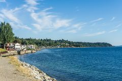West Seattle Coastline 2. A view of the West Seattle coastline royalty free stock images