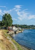 West Seattle Coastline 4. A view of the West Seattle coastline stock photo