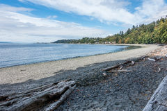 West Seattle Coastline. A view of the shoreline in West Seattle, Washington near Lincoln Park royalty free stock image