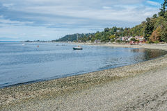 West Seattle Coastline 5. A view of the shoreline in West Seattle, Washington near Lincoln Park royalty free stock images