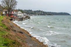 West Seattle Shoreline Homes Stock Photo