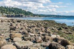 West Seattle Shoreline Stock Photography