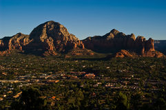 West Sedona Cityview. The town of West Sedona lies adjacent to the Red Rocks of the Secret Mountain Wilderness in Yavapai County, Arizona Stock Image