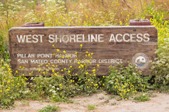 West Shoreline Access trailhead San Mateo Stock Image