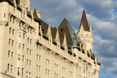 West Side of Chateau Laurier. West side of the Fairmont Chateau Laurier Hotel in Ottawa, Ontario, Canada Stock Image