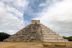 West side of the El Castillo pyramid in Chichen Itza Stock Images