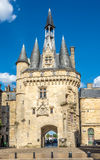 West side of Gate Cailhau - Porte Cailhau in Bordeaux - France Royalty Free Stock Photo