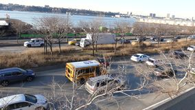 West Side Highway. The West Side Highway, a major thoroughfare in New York City stock video