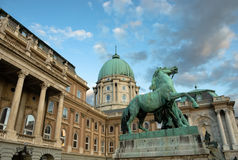 West Side Of The Historic Buda Castle Stock Image