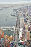 West Side (Manhattan) - aerial view. Stock Images