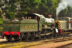West-Somerset-Bahnlokomotiven Stockfotos