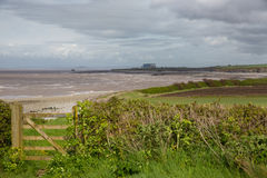 West Somerset Coast Path near Hinkley Point Somerset Stock Photography