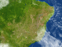 West of South America on planet Earth Stock Photo
