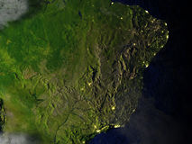 West of South America on realistic model of Earth Royalty Free Stock Image