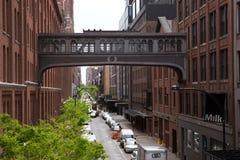 West-15 Straße Skybridge, New York City Stockbilder