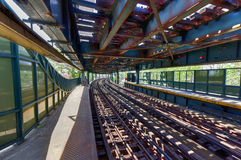 West8. Straßen-U-Bahnstation - Brooklyn, NY Stockbilder