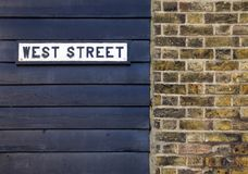 West street. Street sign on wall Royalty Free Stock Images