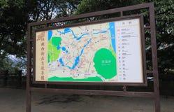 West street map Yangshou China Stock Image