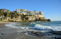 West Stret Beach in South Laguna Beach,California. Image shows a panorama of picturesque West Street Beach in South Laguna Beach, California. The location is at Stock Images