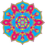 West style mandala in color Royalty Free Stock Image