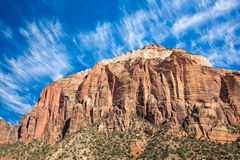 West Temple Sundial in Zion Royalty Free Stock Photos