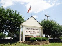 West-Tennessee Business College, Jackson TN stockfotografie