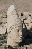 West terrace of Mount Nemrut, Turkey. Adiyaman, Turkey - May 27, 2017: Statues of West terrace at Mount Nemrut on May 27, 2017. The UNESCO World Heritage Site at Royalty Free Stock Photo