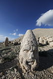West terrace of Mount Nemrut, Turkey. Adiyaman, Turkey - May 27, 2017: Statues of West terrace at Mount Nemrut on May 27, 2017. The UNESCO World Heritage Site at Royalty Free Stock Image