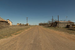 West Texas Ghost Town Stock Images