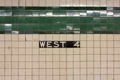 West 4th Station Sign Royalty Free Stock Image