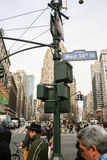 West 34th Street in Manhattan Royalty Free Stock Images