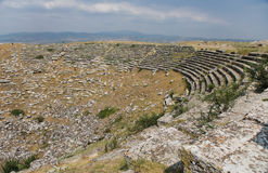 West theatre in Laodicea on the Lycus. Benches of West theatre in archaic Laodikeia city at the Denizli Province, Laodicea on the Lycus, Turkey Stock Image